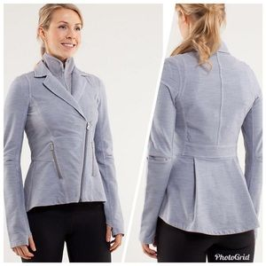 Lululemon Fossil Ride On Grey Blazer Jacket